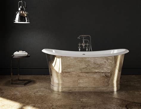 baignoire metal cast iron freestanding bathtub mirror finish stainless