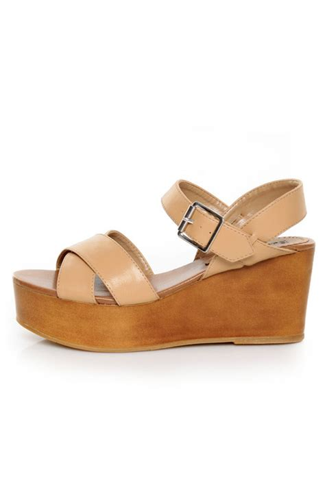 Bsw Wedges Camel 1 bonnibel elmo camel platform wedge sandals 27 00