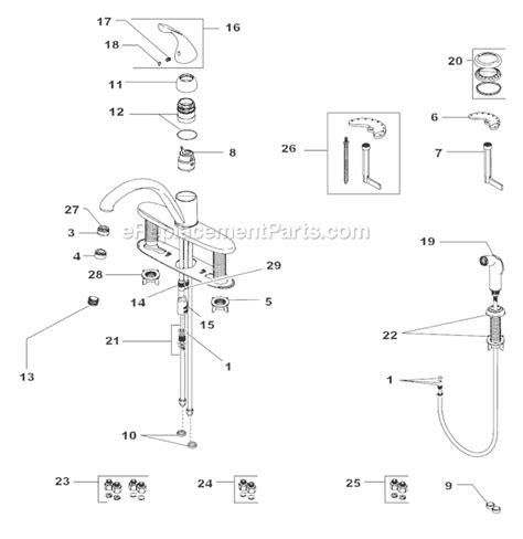 corrego kitchen faucet aerator diagram kitchen sink delta faucet 140 dst parts list and diagram