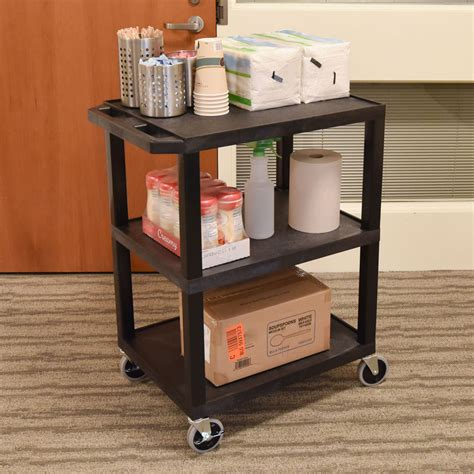 Luxor Furniture by Luxor Furniture Wt34 34 Quot 3 Level A V Utility Cart W 300