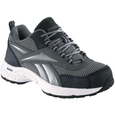 steel toe athletic shoes for s reebok r steel toe cross trainers gray navy