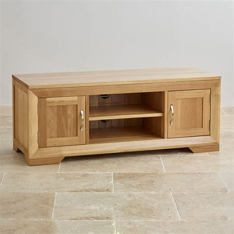 Tv Cabinets by Bevel Solid Oak Widescreen Tv Dvd Cabinet