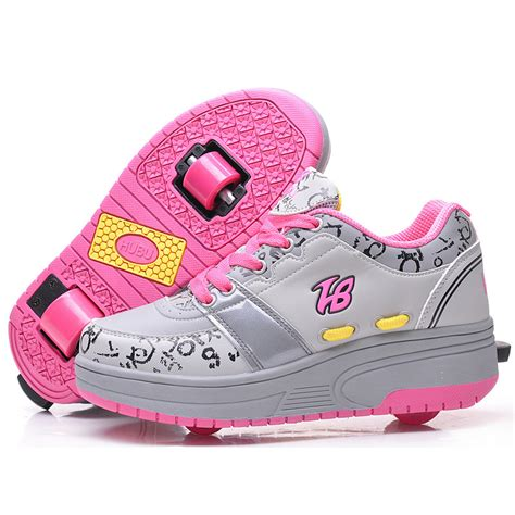 kid roller shoes two wheels automatic heelys children shoes top quality
