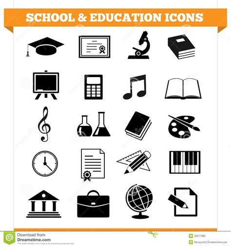 design academy eindhoven university of professional education school and education icons royalty free stock photo