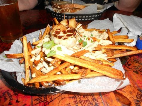 tattooed moose charleston blue cheese fries with roasted garlic picture of