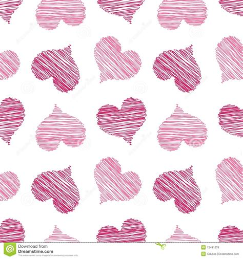 heart pattern pink pink scribbled heart pattern royalty free stock photos