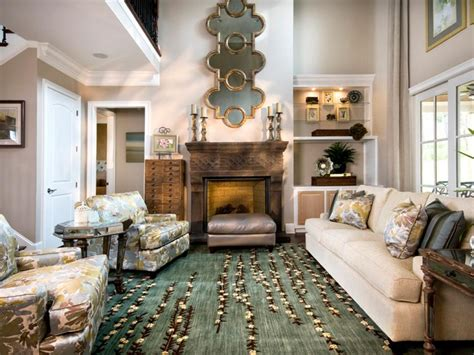 cozy  elegant living room sandy kozar hgtv
