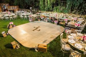backyard wedding floor 25 best ideas about floors on backyard