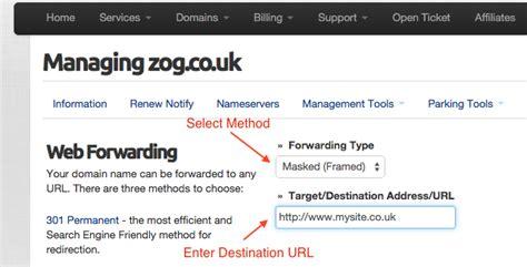 web forwarding parked domains setting up web forwarding ukc