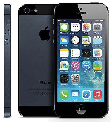 Iphone 5 Black 32gb apple iphone 5 32gb smartphone unlocked gsm black excellent condition used cell phones