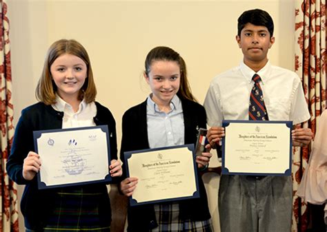 Dar American History Essay Contest 2017 by 02 23 2017 Three Worcester Prep Students Presented With