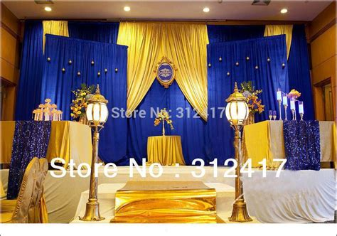Aliexpress.com : Buy Top selling customized royal blue and gold backdrop for wedding , wedding