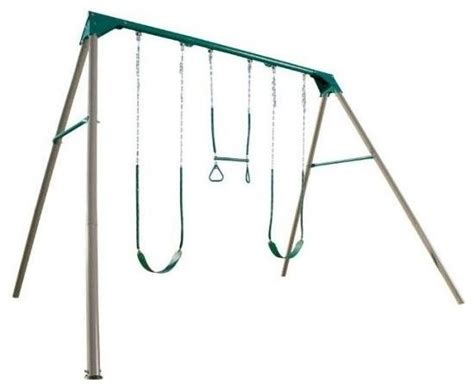 heavy duty metal swing set 3 station heavy duty metal swing set in earth