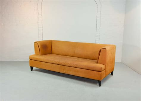 Nubuck Leather Sofa Mid Century Cognac Colored Nubuck Leather Sofa By Paolo Piva For Wittmann Hpvintage