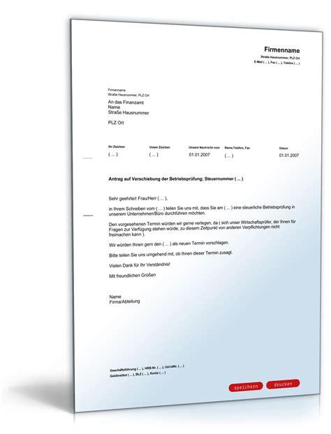 Antrag Resturlaub Vorlage bitte um verschiebung einer betriebspr 252 fung