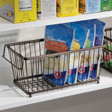 Pantry Wire Baskets by York Stackable Pantry Basket Bronze In Wire Baskets
