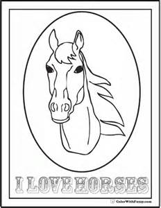 coloring pages of cute horses gallery