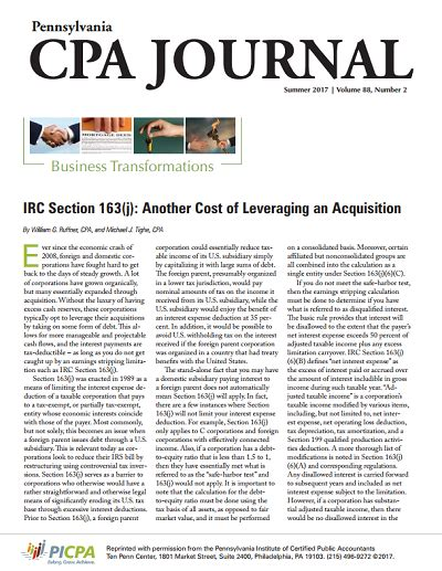 irc section 163 picpa article image global tax management leading tax