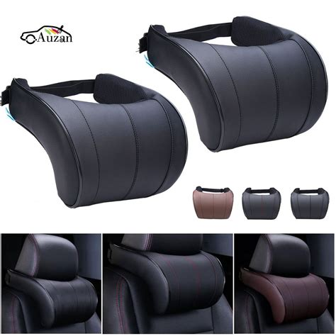 Pillow Car by 1pcs Pu Leather Auto Car Neck Pillow Memory Foam Pillows