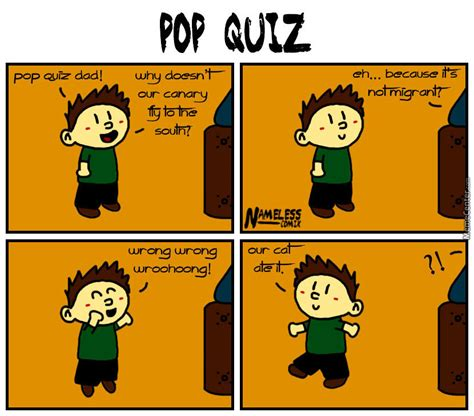 Quiz Meme - pop quiz by shinomori meme center