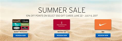 Darden Gift Card Discount - citi ty up to 20 discount on various gift cards nike darden red door spa doctor