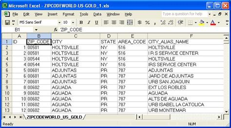 us area code guide sreenshot united states zip code database gold edition