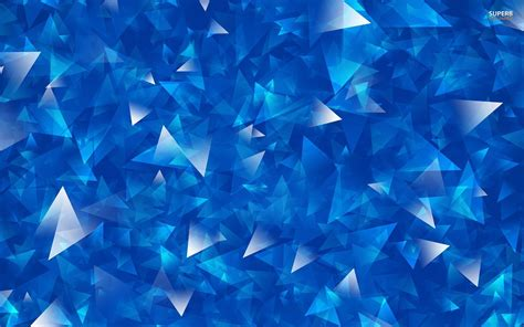 overlapping blue and silver triangles