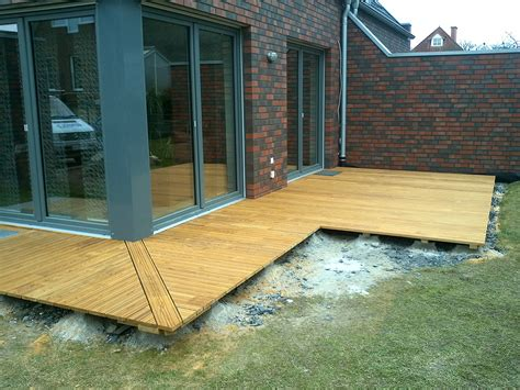Terrasse Ums Eck by Terrasse Dauerholz L Form Holzl 246 Sung