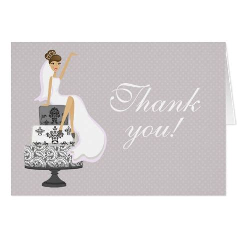 Thank You Cards For Bridal Shower by Chic Pink Modern Bridal Shower Thank You Cards