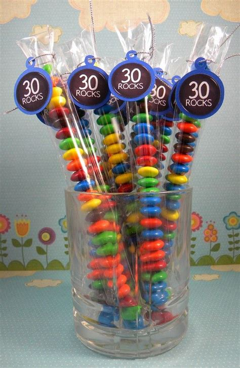 30th Birthday Decorations For by 30th Birthday Treat Bags 30 Rocks Set Of 12