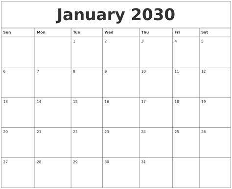 january   calender