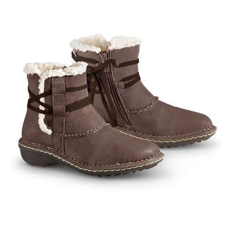 s lamo 174 apres cer side zip boots brown