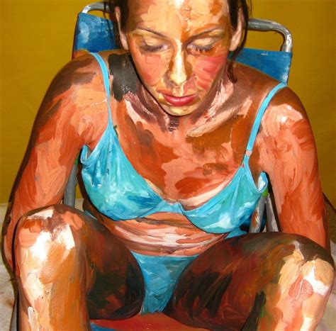 acrylic painting person hyper realistic acrylic painting by meade