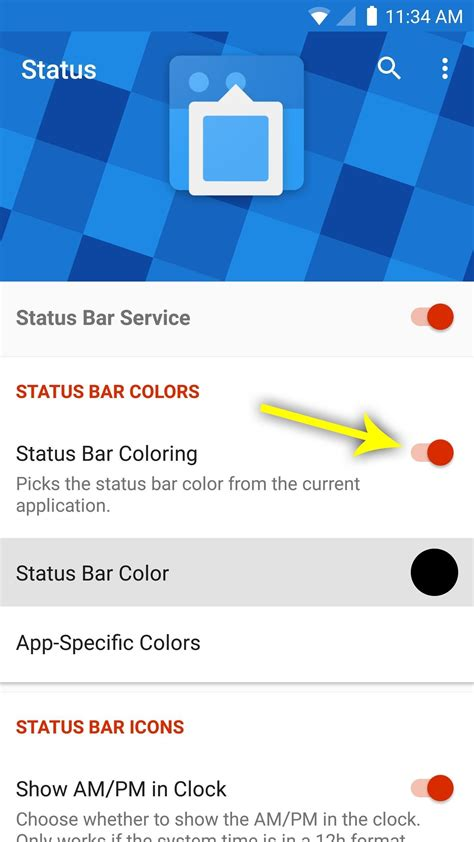 status bar color give your status bar stock android s material design icons