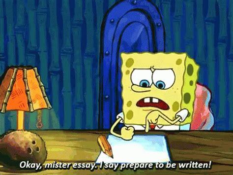 Spongebob Doing Essay by Spongebob School Gif Spongebob School Backtoschool Discover Gifs