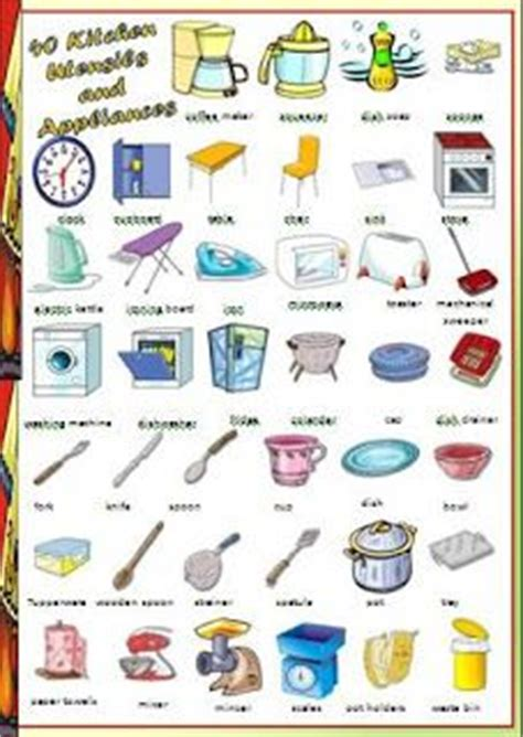 Things In The Kitchen Vocabulary by 1000 Images About Kitchen Utensil Lesson Plan Child