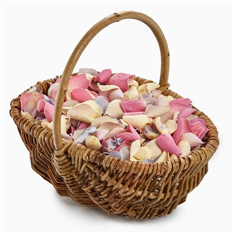 Flower Wedding Baskets by Flower Basket Wedding Confetti Package Petals Roses