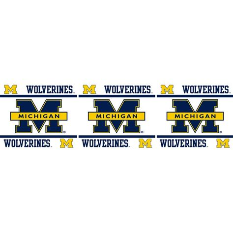 peal and stick wall paper michigan wolverines peel and stick wall border