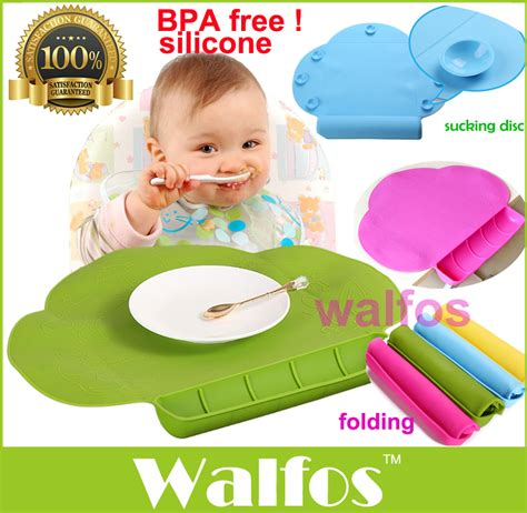 Feeding Mat Baby walfos waterproof silicone baby bib table mat infant tiny