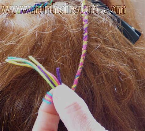 plaited yarn braids plaited yarn braids