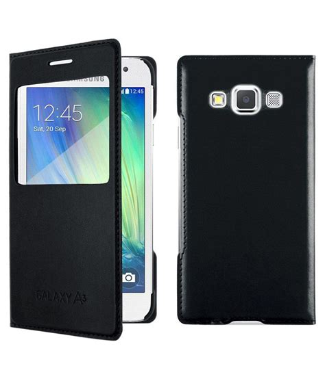 Flip Cover Samsung A8 Mercator Leather Flip Cover For Samsung Galaxy A8 Black