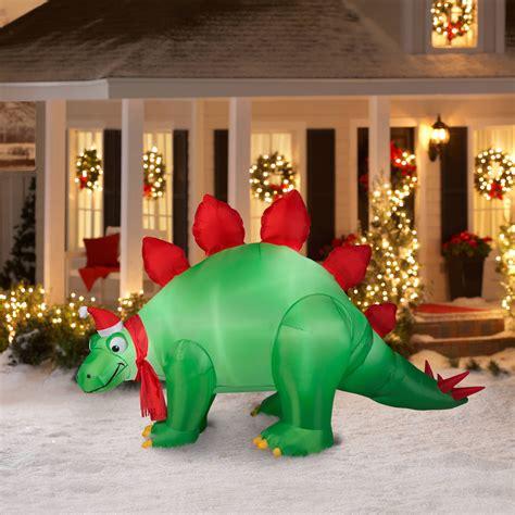 lighted dinosaur christmas decoration tree lights decoration
