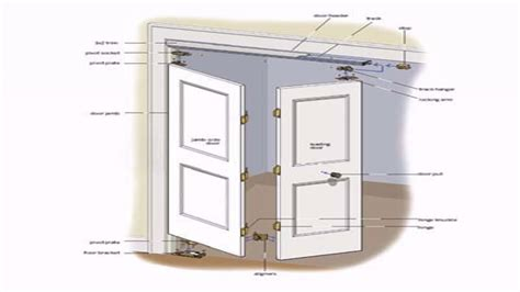 How To Hang Bifold Closet Doors How To Install Bifold Closet Doors Plan Buzzard
