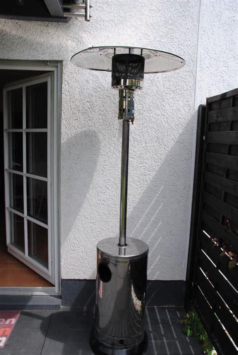 gas heizstrahler terrasse gas terrassen heizstrahler heizpilz aus edelstahl wie neu
