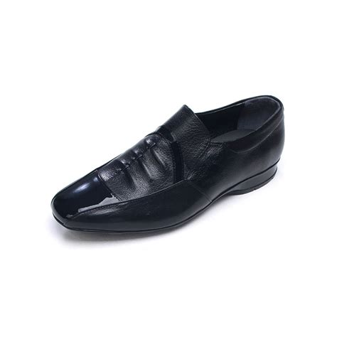 mens two tone loafers s wrinkle sheepskin loafers