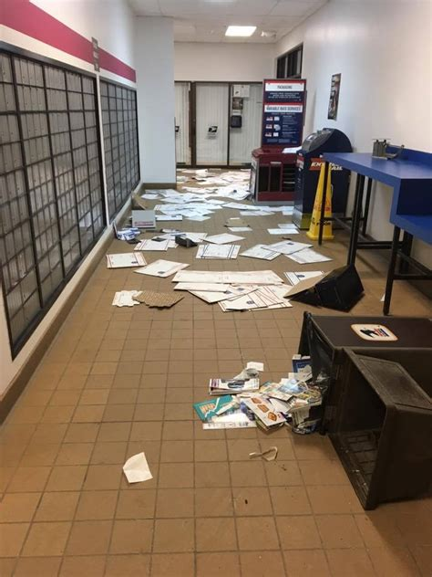 Eagle River Post Office by Vandals Hit Eagle River Post Office Once Again The