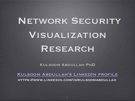 Doctorate In Security 1 by Phd And Post Phd Network Security Visualization Research