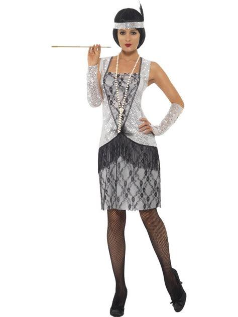 Kleider 30er Swing by 20er Jahre Kost 252 M Kleid Silber Charleston Mafia 36 38