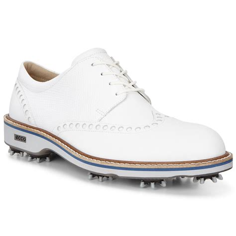 golf boots mens ecco mens classic leather spiked brogue golf shoes ebay