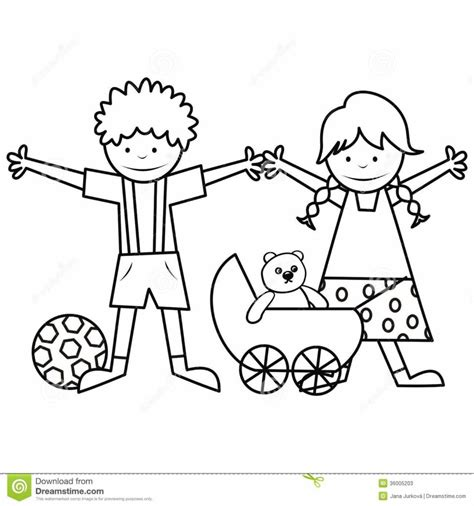 coloring page of boy and girl coloring pages coloring pages printable understand their